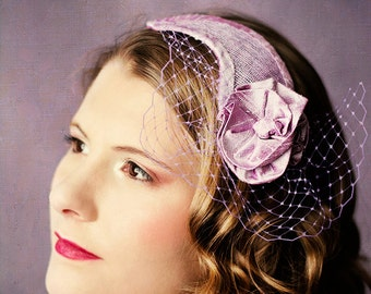 Braut Fascinator Crescent Poppies Ava  Kopfschmuck Mohnblüten