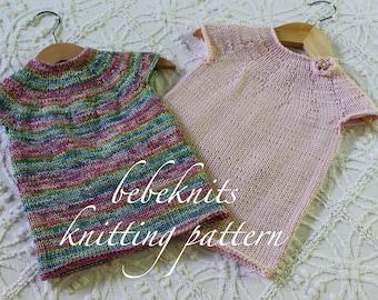 Bebeknits French Style Ella Baby Dress Knitting Pattern