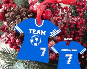 Sports Christmas Ornament - Jersey Personalized T-Shirt Ornament -  Sport Ornament - Sport Jersey - Team Ornament