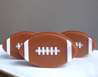 Football Soap - Soap for Men, Fathers Day Soap, Fantasy Football, Party Favors, Mens Stocking Stuffer, Soap Gift - 2 Piece