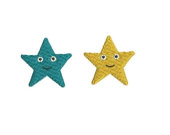 Mini Star- Machine Embroidery Design