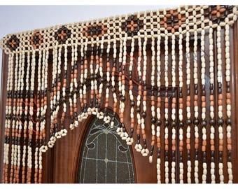 Door curtain Wood curtain Wood blinds Door Beads Beaded Curtains Beaded Door Curtain Wood Bead Door Curtain Handmade Door curtain
