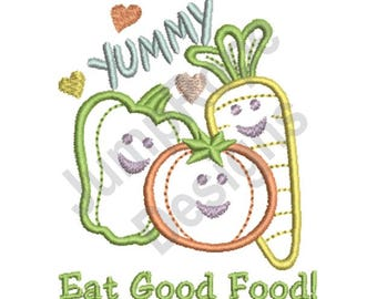 Eat Good Food - Machine Embroidery Design