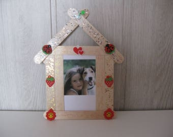 wood sticks photo frame