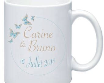 Mug personalized wedding names and date gift personalized #2