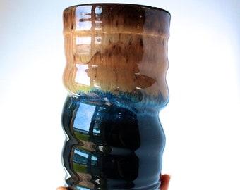Tumbler, READY TO SHIP, Handmade Wheel-thrown Pottery Tumbler, Cup