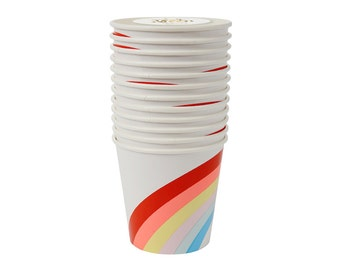 Rainbows and Unicorns Paper Cups, Party Supplies, Tableware