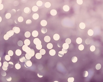abstract photography fine art bokeh photography 8x10 8x12 fairy lights photography sparkle christmas pastel photo lilac cream bedroom decor