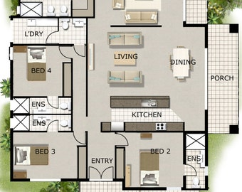 MOST POPULAR HOMES -4 Bedroom House Designs - Australian and International Home Plans - 4 Bedroom house plan book-floor plans-home plan