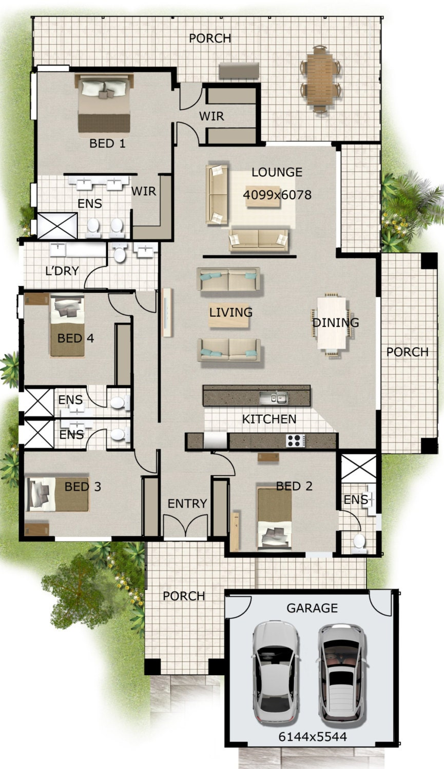 MOST POR HOMES -4 Bedroom House Designs - Australian and ...