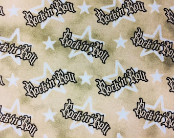 Rock and Roll Music Fabric - 100% Quilting Cotton [[by the half yard]]