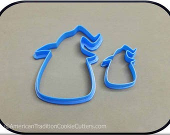 Set of 2 Candy Corn Witch 3D Printed Cookie Cutters