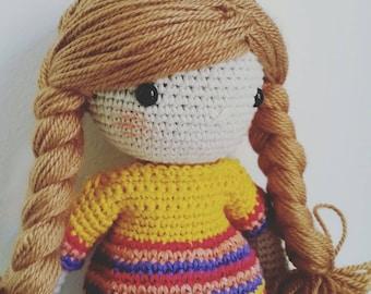 Summer girl - crochet doll