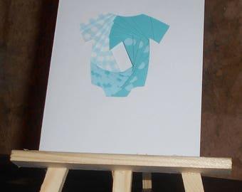 Newborn - baby blue in iris folding card