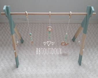 Educational wooden baby gate / Baby gym