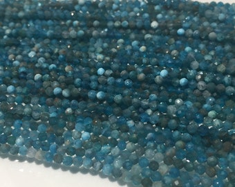 Neon Apatite faceted Roundel  2.5mm  Size - Length 40 cm- Apatite Faceted Rondelle beads- AAA Quality