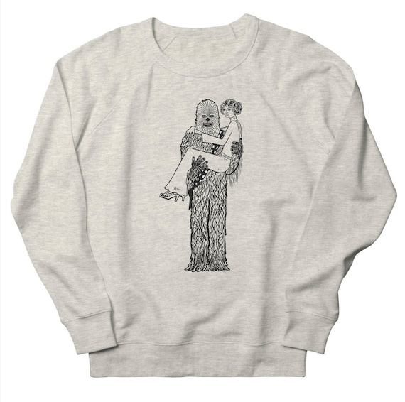 CHEWY FiNDS A GiRLFRiEND - Mens / Womens - Sweatshirt - Heather Oatmeal / Pink / Green by Oliver Lake - iOTA iLLUSTRATiON