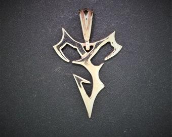 Final Fantasy X Tidus Pendant in Antique bronze