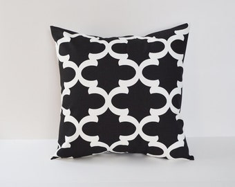 Black Pillow covers Decorative Pillows Moroccan Pillow 8 Sizes Available