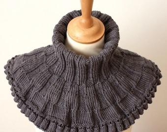 Knitting Pattern (PDF file) Round Cowl Scarf