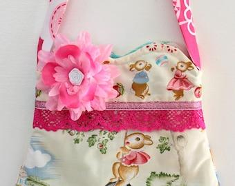 Bunnie Rabbit  purse, girls purse, toddler purse,