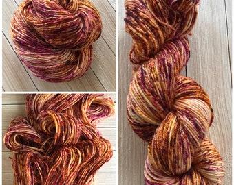 Hand dyed yarn DK weight 245 yards