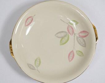 ZEH SCHERZER Bavaria Germany porcelain with gold border plate