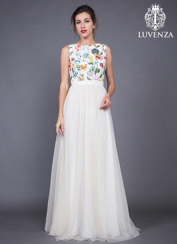 Multi Color Tulle Prom Dresses