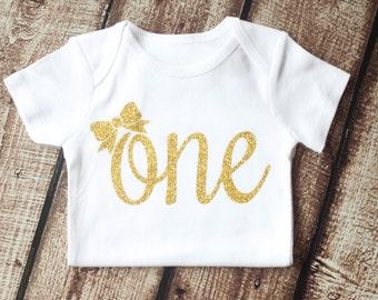 First Birthday outfit, 1st Birthday Shirt, Birthday Outfit, Birthday Onesie, One with BOW Outfit, Second Birthday, Birthday Tutu