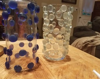 Glass bubble bead vases