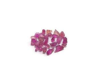 Rough Rubelite Rubellite raw Pink Tourmaline top facet Crystals lot (3.20 carats) Semi Precious Gemstone (K.16)