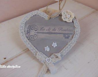 wooden romantic spirit heart
