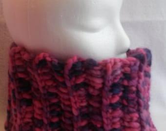 Cowl, Neckwarmer, Scarf, Pink, Purple, Crochet Cowl, Wool Cowl, Headband, Ski Scarf, Cowl Scarf, Winter Accessory