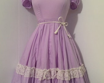 1950s Vintage Lavender Square Dance Dress