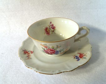 Bareuther Bavarie Demitasse Cup and Saucer, Germany US Zone