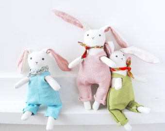 SPECIAL PRICE - Cotton Velour Bunny Rabbit Dolls