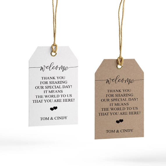 Welcome Wedding Tag Template Wedding Welcome Bag Tag Wedding