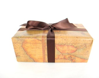 Old World Map Wrapping Paper, 10 ft. x 2 Ft Roll, Masculine Gift Wrap, Gift Wrap for Man, Father's Day Wrapping Paper
