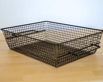 Vintage Rinsing Basket • Over-the-Sink Drainer • Drying Rack • Farmhouse Kitchen • French Country Decor • Industrial Wire Tray
