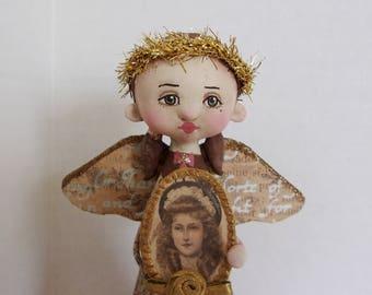 Angel of Rememberance original folk art doll