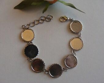Silver bracelets 2 matte bezel