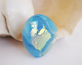 CARIBBEAN Statement Ring Fused Glass