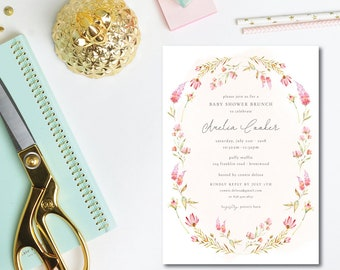 Sweet Hyacinth Shower Invitations