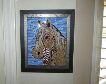 Indian Pony. Framed Mosaic