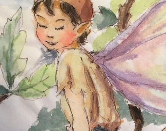 Faerie on a branch