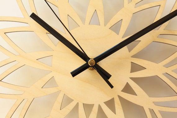 Wall clock / Retro wall clock / Sunburst clock / Mid century