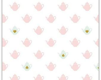 EXTRA 20 30% OFF  Wonderland 2 by Melissa Mortensen Tea Pot White Sparkle