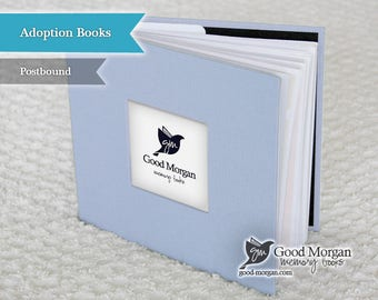 Adopted Baby Memory Book - Soft Blue