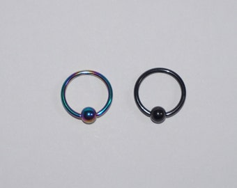 Surgical Steel Captive Ball closure body jewellery lip piercing nose piercing septum Two Colours, Christmas gift