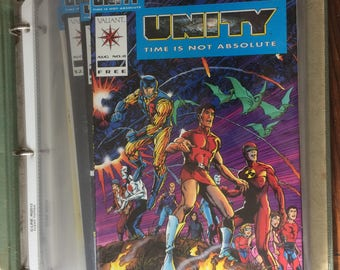 Unity Time Is Not Absolute #1 - #17 Valiant Comic Set 1992 NM Condition
